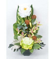 OCEA 17 CM PIVOINE ORCHIDEE CREAM GREEN