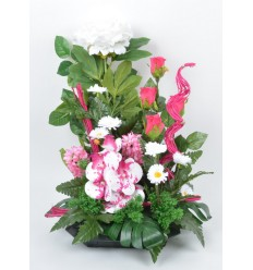 COUPE CARRE PIVOINE ORCHIDEE JACINTHE BEAUTY PINK