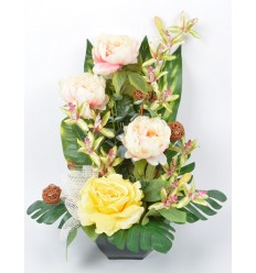 OCEA 25 CM PIVOINE ORCHIDEE CREAM GREEN