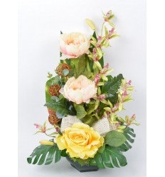 OCEA 20 CM PIVOINE ORCHIDEE CREAM GREEN