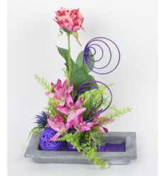 RECTANGLE BETON ROSE ORCHIDEE LILAC