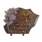 PLAQUE 30X40 + MOTIF BRONZE