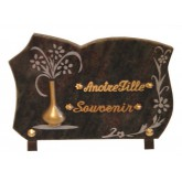 PLAQUE 20X30 + MOTIF BRONZE