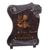 PLAQUE 25X35 + MOTIF BRONZE 2 INTERS